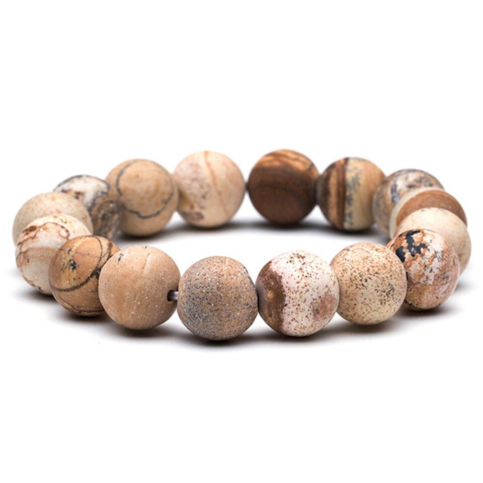 2018 Perle Herren Armband Neue Natürliche Stein & Holz Kopf Bead Armband Für Männer & Frauen Buddha Schädel Glocke Shambhala Elastische Armbänder
