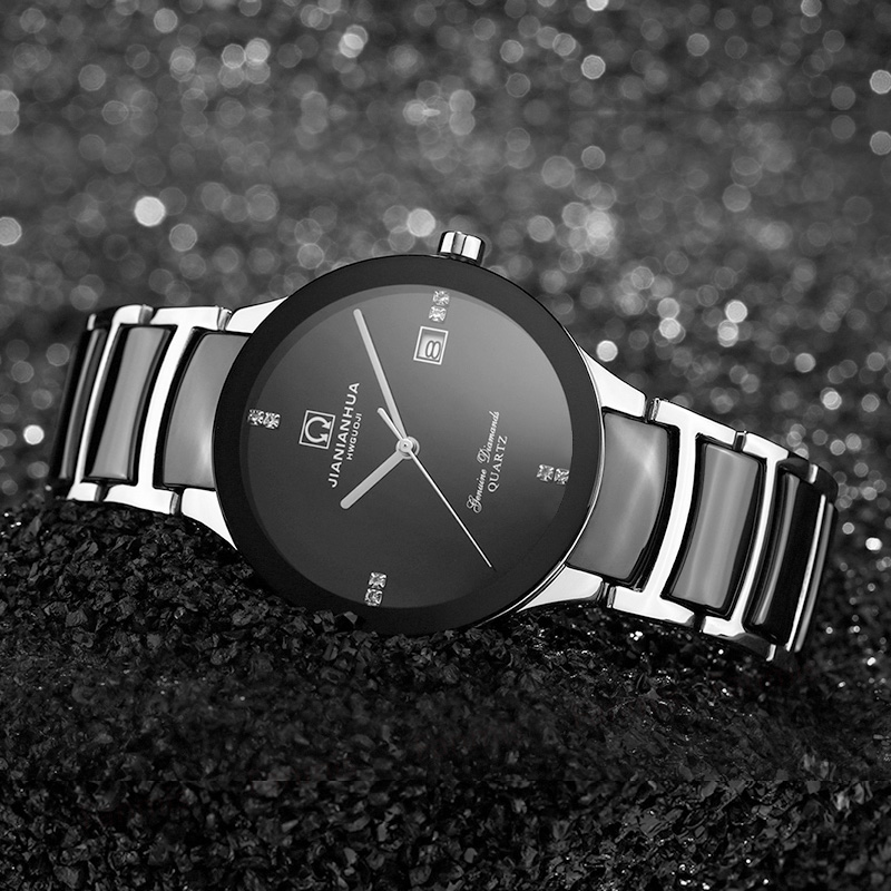 Carnival Quartz Watch Women Ceramic Bracelet Rhinestone Waterproof Fashion Simple wristwatch carnival ceramic pair watch men and women 100