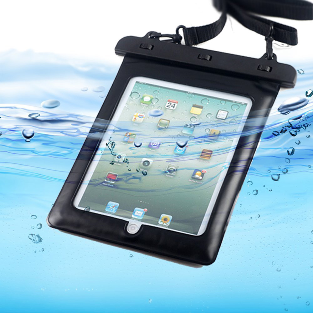 Waterproof Pouch Bag Case For Ipad Pro 9.7, For Ipad Air 2, For Samsung Galaxy Tab E 10.1,Tab A 10.1,Galaxy Tab S2 VE 9.7 Black