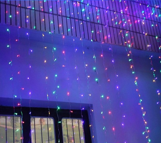 300 LED 3M*3M Curtain String Lights Garden Lamps Xmas Christmas Icicle  Lights Xmas Wedding Party Decorations AC110V 220V In LED String From Lights  ...