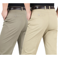 Summer Style Thin Men S Casual Pants High Waist Cotton Men Loose Straight Long Suits Pants