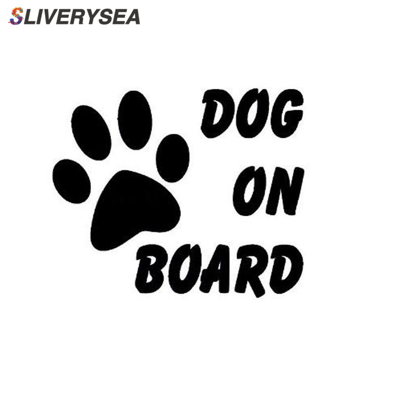SLIVERYSEA Car Sticker DOG ON BOARD AND To Remind Tail