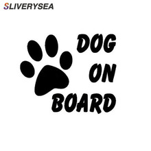 SLIVERYSEA Car Sticker DOG ON BOARD AND To Remind Tail Vinyl stickers Styling For Suzuki Grand Vitara Swift Renault Megane 2