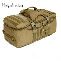 Professional Sports Package Men Canvas Camping Bag Waterproof Backpack Military 3P Tactical Backpacks Outdoor Travel Laptop