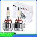 Car Styling 2x Car LED Headlight H1 H3 H7 9005 HB3 9006 HB4 H4 4 Side COB Auto Led Headlamp Hi-Lo Beam 12000LM Replacement Bulbs