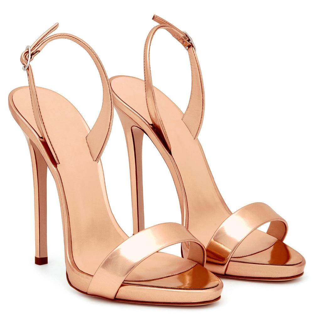 Простые сандалии на высоком каблуке розового и золотистого цвета; женские брендовые Стильные Классические туфли на каблуке с ремешком сзади; пикантные модельные туфли на шпильке; цвет красный, черный, телесный - 2