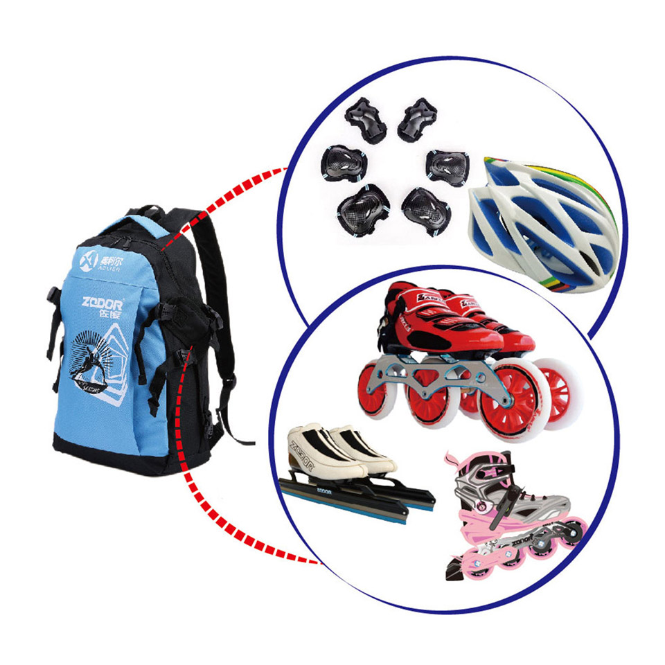 Waterproof Oxford Cloth Backpacks Roller Skates Shoes Bags for Inline Speed Skates Slalom Skates Adult and Children General G008 in Climbing Bags from Sports Entertainment