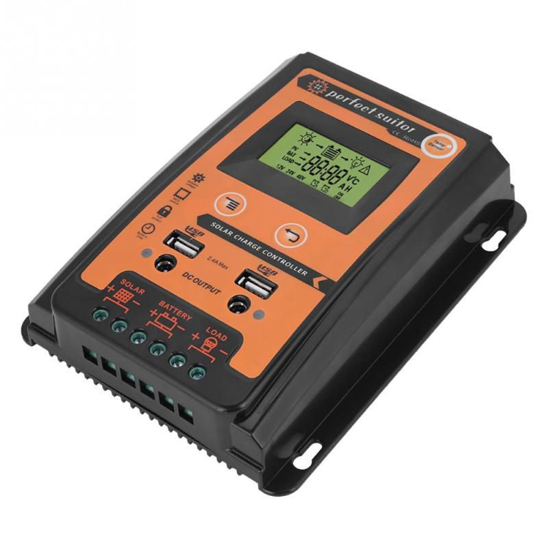 Charge Controller 12V 24V 30A 50A 70A Solar Charge Controller Solar Panel Battery Regulator Dual USB LCD DisplayCharge Controller 12V 24V 30A 50A 70A Solar Charge Controller Solar Panel Battery Regulator Dual USB LCD Display