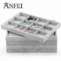 High Quality Linen Empty Plate Jewelry Box Jewelry Display Box For Jewelry Organizer Necklace Box Tray