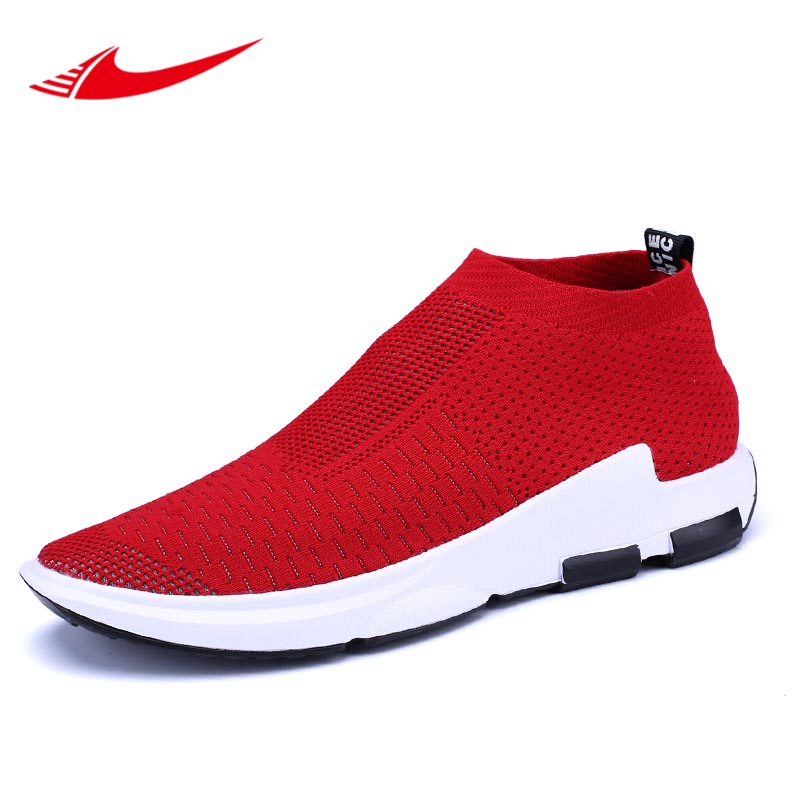 Beita Fly Knitted Men Running Shoes Mesh Sock Sneakers Jogging Lovers Arena Shoes Cheap Couple Sport
