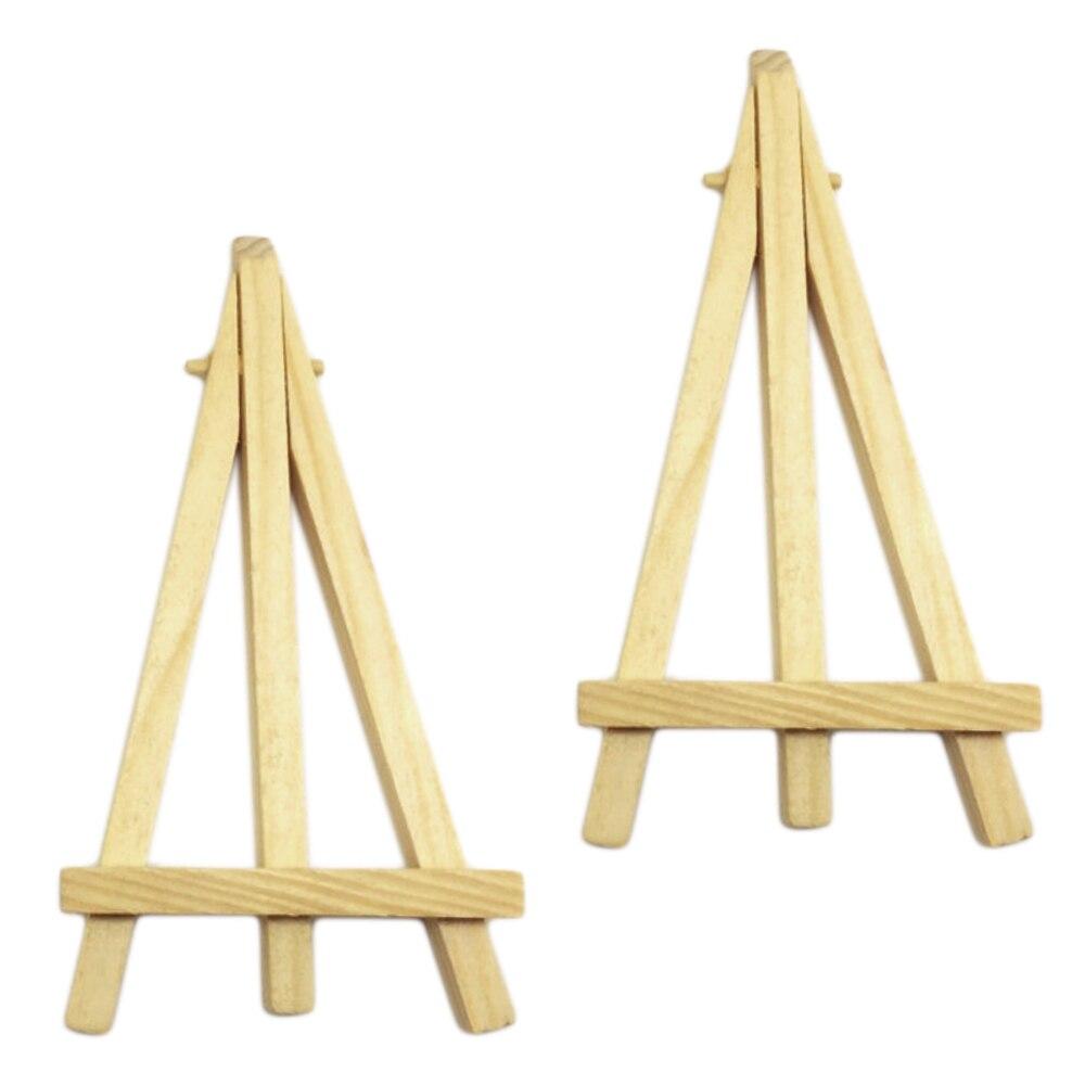 Behogar 10PCS Pine Wood Mini Easel Triangle Artist Painting Table ...