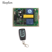 Sleeplion Motor Reversing Garage Door Window 220V 2 CH Wireless Remote Control Switch Opener System Module