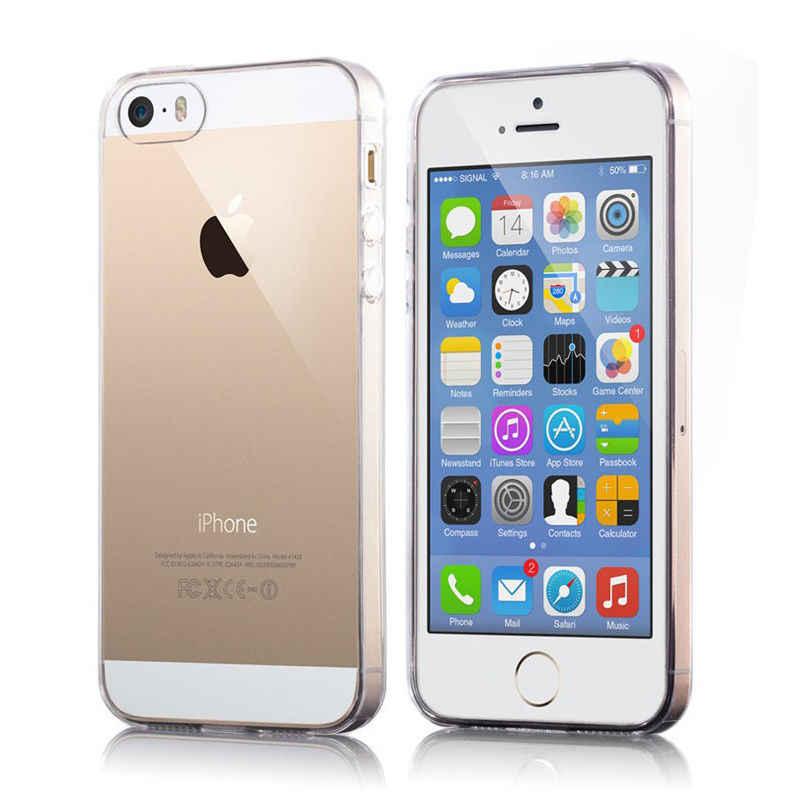 Funda de silicona TPU transparente Ultra fina transparente para iPhone XS MAX XR 6 7 6S Plus 5S, funda protectora de goma para iPhone 7 Plus 8