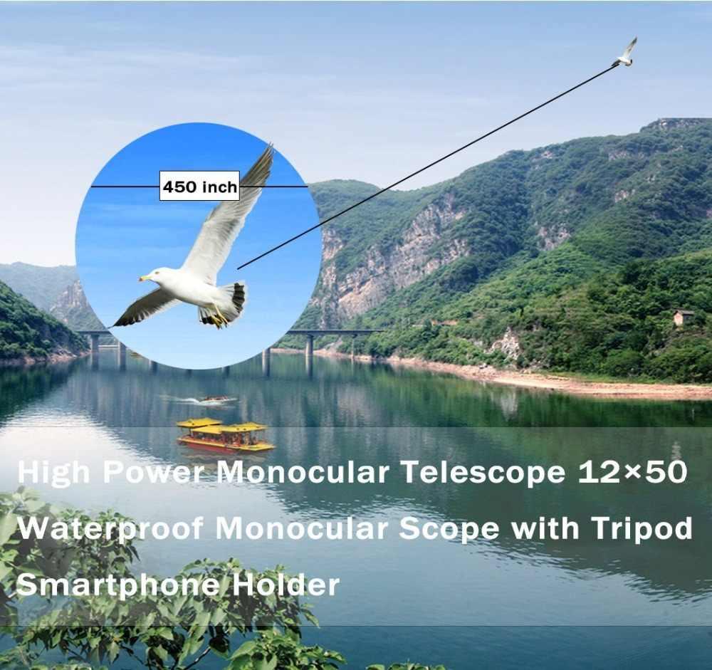 TOKOHANSUN 40x60 Zoom Lente do Telefone Celular Móvel Telescope Monóculos Scope Monocular À Prova D' Água Com Grampo e Tripé para IPhone