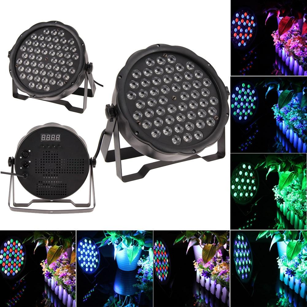 LED Stage Lights 54W RGB LED PAR Stage Lighting Effect DMX64 Master-Slave Led Flat for DJ Disco Party KTV For US Plug EU Plug cd диск ost city of god 1 cd