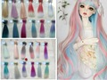 1pcs 15cm *100cm BJD Wigs  High-temperature Fashion colourful straight Hair Piece For 1/3 1/4 1/6 BJD SD Dollfie