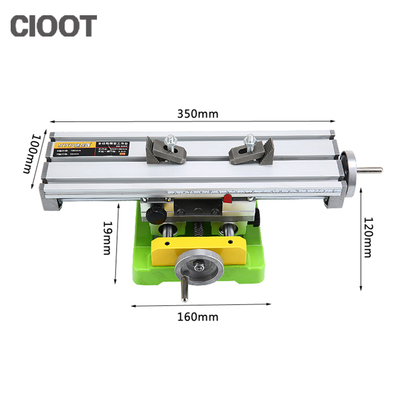 Free Shipping Multifunctional Cross Work Table 350*100mm Bench Vise Drill Tools X Y-axis Adjustment Table For Milling Machine scoyco p017 2 motorcycle pants protective racing trousers sports riding windproof motorbike pantalon moto motocross motocicleta