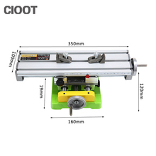 Check Price Free Shipping Multifunctional Cross Work Table 350*100mm Bench Vise Drill Tools X Y-axis Adjustment Table For Milling Machine