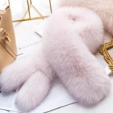 ZDFURS* натуральный Лисий меховой воротник шарф Женская шаль обертывания Болеро шеи Теплый Розовый палантин горячая Распродажа кольцо шарф с двумя хвостами