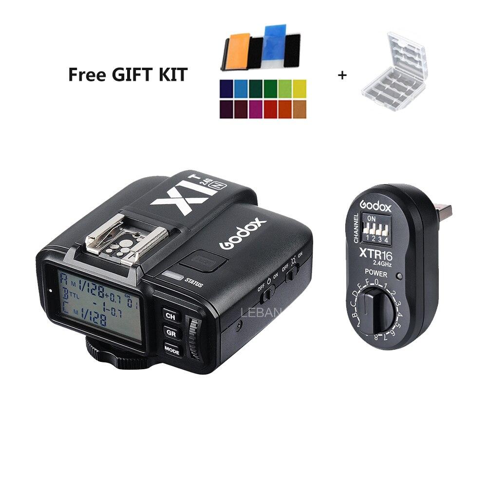 Godox XTR 16 Wireless 2 4G Power Control Flash Receivers X1T N TTL Wireless Transmitter for