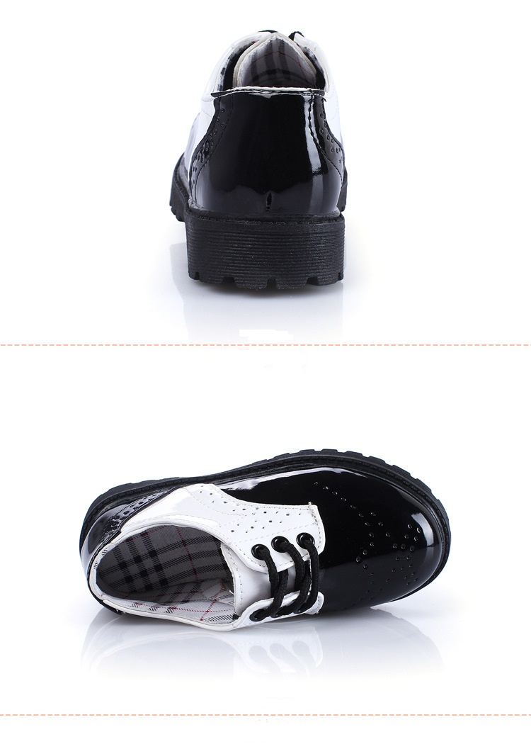 Baby shoes 2016 Spring children shoes boys fashion patent leather shoes  girls thread empty Sneakers boys Sneakers kids student-in Leather Shoes  from Mother ... 49e93a01a0ad
