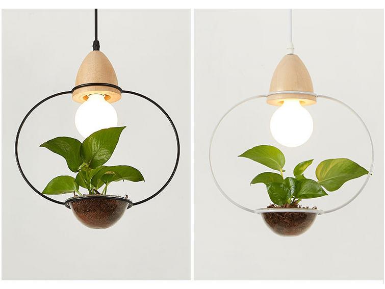 Art Deco Led Plant Pendant Light Lamp For Dining Room Cafe Bar Restaurant