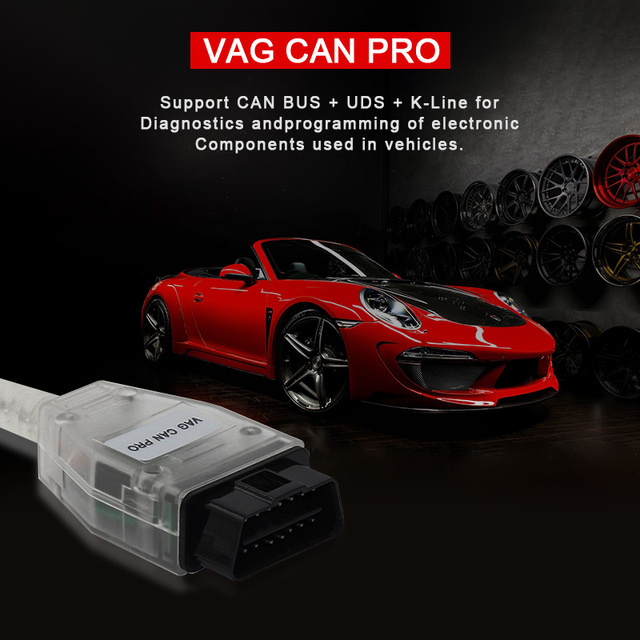 2019 for VAG CAN PRO support CAN BUS+UDS+K-Line S.W Version 5.5.1 VAG CAN PRO V5.5.1 with FTDI FT245RL better than VAG AND ODIS