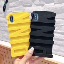 3D розовый письмо Мягкая силиконовая Резина чехол для телефона для iphone X 5 5S SE 8 7 Plus 6 6 s 10 плюс задняя обложки мобильный чехол для телефона Капа