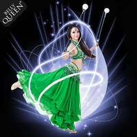One Pair LED POI Thrown Balls For Professional Dance Level Hand Props Belly Dance Accessories For