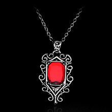 The Mortal Instruments City of Bones Necklace Isabelle Lightwood Angelic Power Red Crystal Pendant Necklaces For Women Men Gifts(China)