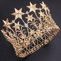 Wedding Bridal Bridesmaid Star Women Girls Gold Silver Plated Crystal Rhinestone Diamante Tiara Crown Headband Headpiece