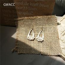 GWACC 2019 NEW Super Fairy Natural Freshwater Pearl Drop Earrings For Women Fashion Hook-Style Vintage Minimalist