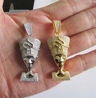 Neckalces Màu Vàng Pharaoh Head Mặt Dây Chuyền Vòng Cổ Cho Phụ Nữ bling bling iced ra chiếc Vòng Cổ Punk Hip Hop Phong Cách Đàn Ông Jewelry