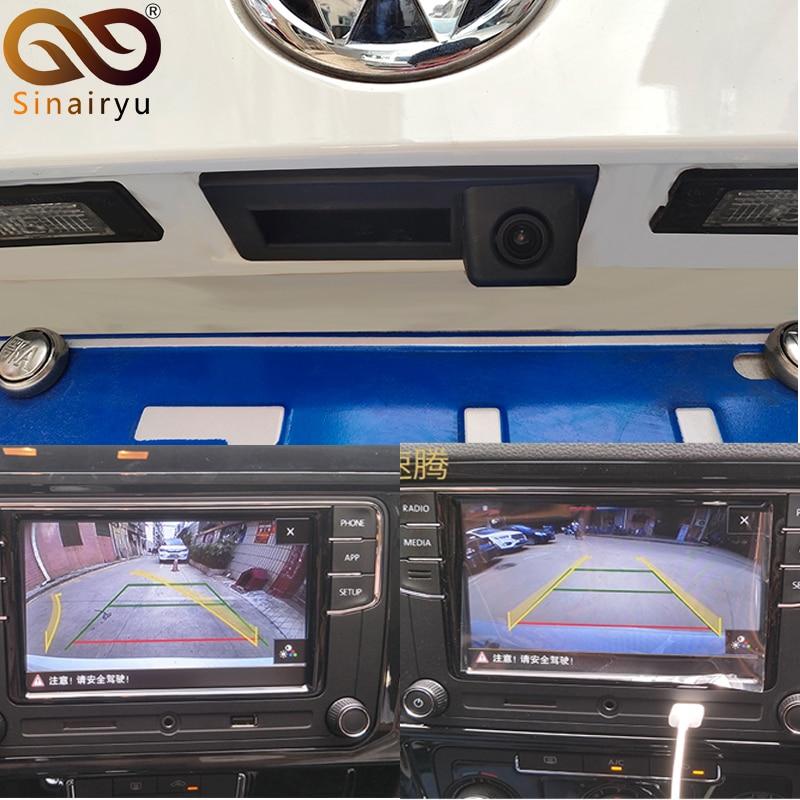 Original Data Steering Wheel Dynamic Trajectory Parking Line Rearview Trunk Handle Camera RCD 330 Plug For VW PQ MIB Audi MQB