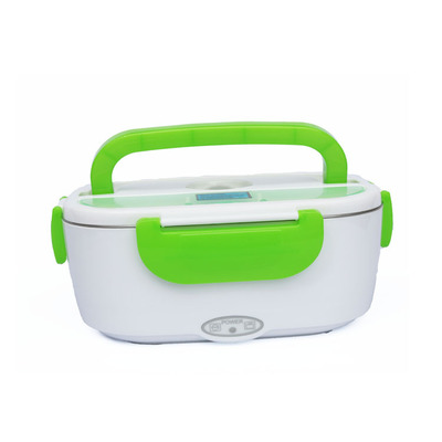 Mini Dual Use Car Home Heating Lunch Box Food Warmer Container Electric Lunch Kitchen Box Rice Cooker 110 220 12V EU US Plug portable 12v car electric heating lunch box rice cooker food warmer 1 05l 40w