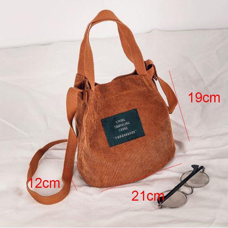 426655081 Mara es sueño de alta capacidad de las mujeres de pana bolso damas Casual  Color sólido