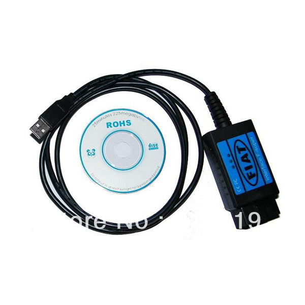 Free shipping for Fiat Scanner Cable for Fiat F-Super interface, fiat usb scan tool for Fiat / Alfa Romeo / Lancia USB