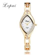 Lvpai Luxury Ladies Bangle Watches for Women Rhombus Cheap Gold Rhinestone Watch Women Dress Quartz Crystal Wrist Clock Watches
