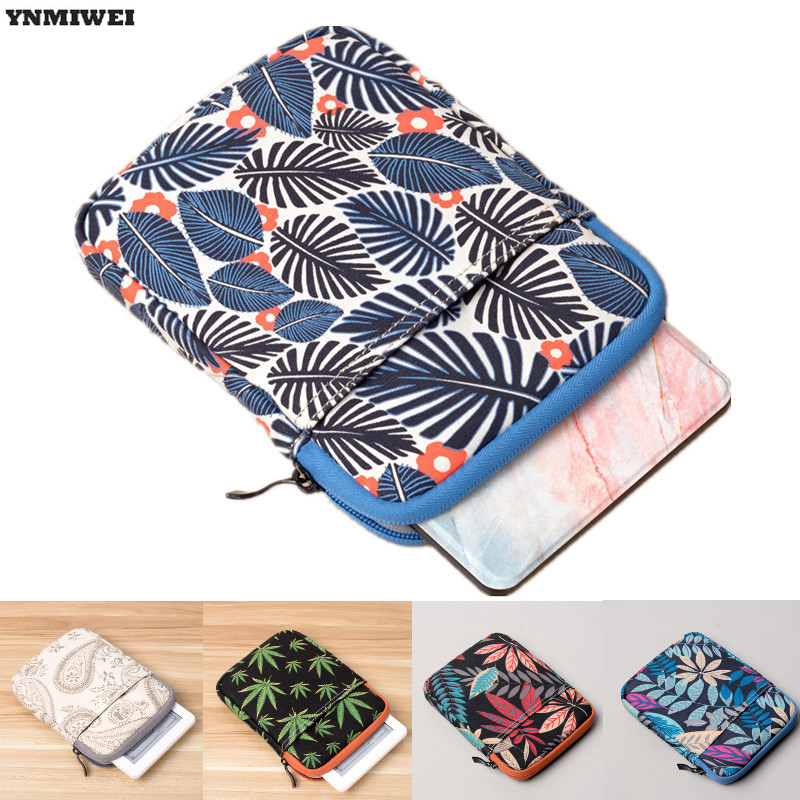 6 Tablet Sleeve Case Bag For Kindle Paperwhite 2/3 Voyage Color Printing Protective Cover Pouch For Kindle 7th 8th Gen Ebook 6 inch tablet sleeve case for kindle paperwhite voyage 7th 8th gen pocketbook 622 623 e reader print wool pouch 2017 summer