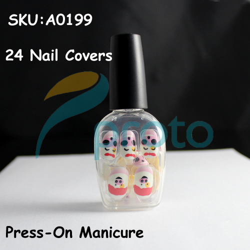 NEW Fashion 24 Nails Full Covers Cartoon Press-On Manicure Fast&Easy Salon Manicure Nail Art Dropshipping [Retail] SKU:A0199