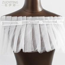 ZUOYITING 2017 Más Nuevo Nupcial Del Hombro de la gasa Bolero chaqueta de encaje mariage Chaquetas de la boda Boleros accesorios de la boda de la novia