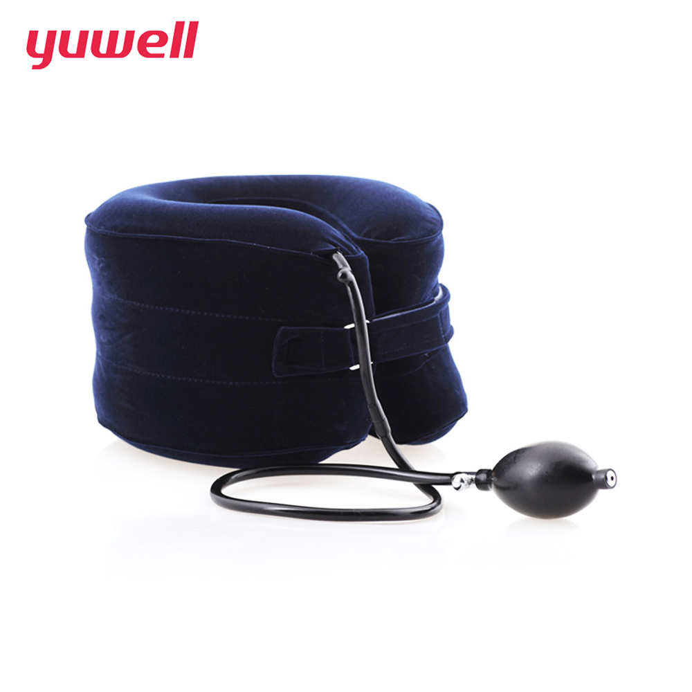 yuwell Neck Traction Therapy Cervical Vertebra Collar Orthopedics Inflatable neck massager Relaxation medical neck brace neck cervical traction device inflatable collar household equipment health care massage device nursing care