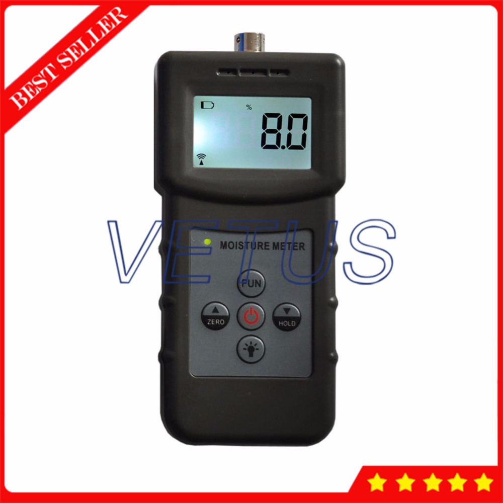 2 in 1 Moisture Meter Handhold Concrete Moisture Meter MS360 for measuring wood paper textile detector Moisture Content Testing mc7812 induction tobacco moisture meter cotton paper building soil fibre materials moisture meter