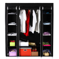 Non Woven Folding Jumbo Chest Wardrobe Shelves Hanging Bar Shoes Clothes Organizer