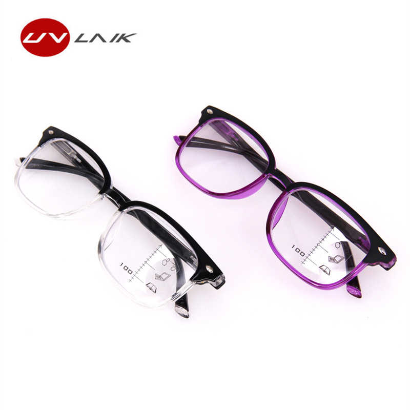 cc94831dd45b ... UVLAIK New Retro Progressive Multifocal Reading Glasses Men Women  Hyperopia Bifocal Eyeglasses Unisex Multi-purpose