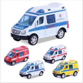 Policía Regalo Casa De Vehículo Simulación Ambulancia Modelo Decoración Niño 9 Plástico Cm Patrulla Pc Coche 1 Juguete roWdxBQCe