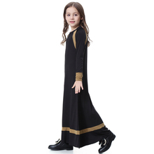 Muslim Girls Dress Dubai Abaya Jalabiya Islamic Malaysia Dress Clothing Robe Kaftan Fashion Musulmane Stitching Style
