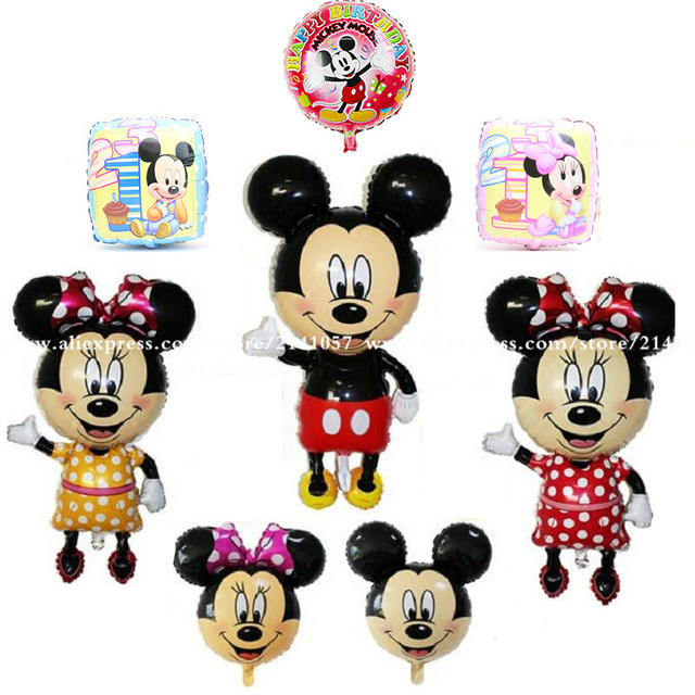 1pcs Cartoon Mickey Mouse Foil Balloons Birthday Party Cute Minnie Head Balloon Wedding Decorations Classic Toys party supplies