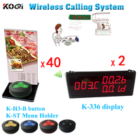 Call Waiter Service System,Call Waitress Pager System W Menu Holder