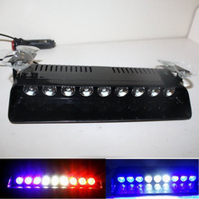 CYAN SOIL BAY 9 LED Blue Red White Car Harzard DashBoard Emergency Visor Strobe Warn Flash Light(China)
